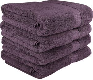 Premium Bath Towels Set - Cotton Towels for Hotel and Spa, Maximum Softness and Absorbency by Utopia Towels (4 Pack) (purple)