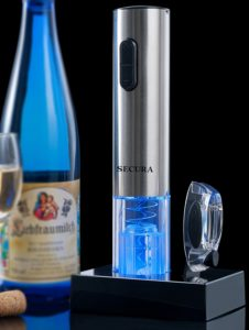 Secura Stainless Steel Electric Wine Opener Corkscrew Bottle Opener with Foil Cutter (Stainless Steel)