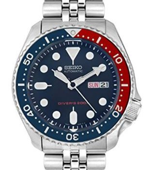 Best Gifts for Him Father's Day, Birthday, Christmas, Valentines - Seiko Men's SKX009K2 Diver's Analog Automatic Stainless Watch