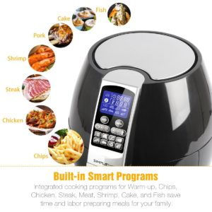 Cooking with an air fryer - SimpleTaste 1400W Multi-function Electric Air Fryer with Rapid Air Circulation Technology, 3.2 QT