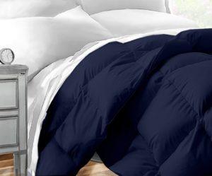 Best Dorm Bedding Sets - Sleep Restoration Down Alternative Comforter 1400 Series - Best Hotel Quality Hypoallergenic Duvet Insert Bedding - Twin-Twin XL - Navy