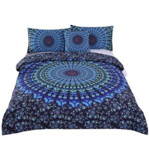Best Dorm Bedding Sets - Sleepwish 4 Pcs Bohemian Moonlight Bedding Set Bohemia Blue Nice Gift Plain Twill Home Textiles Duvet Cover Set Twin Size