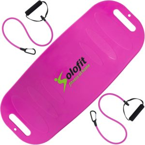 Gifts for workout lovers - Solofit Balance Fit Board with Resistance Bands