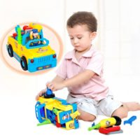 TOYK Truck Take Apart Toys for Boys Girl With Electric Drill and Various Take-A-Part Tools, Lights and Music, Construction Car Stem Toy