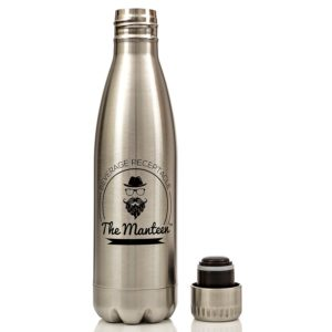 The Manteen - Great Gifts For Men!, Keeps Your Beverage Hot or Cold all day, Stainless Steel Water Bottle, Double Walled