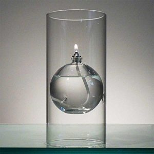 The Modern Transcend Clear Glass Oil Lamp is a Unique Gift for Her