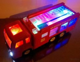 WolVol Electric Fire Truck Toy with Stunning 3D Lights and Sirens, Great Gift Toys for Kids