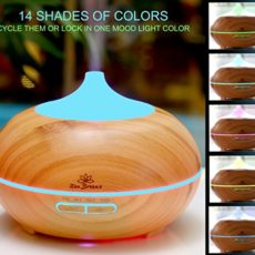 Gift Ideas for Mom - Zen Breeze Essential Oil Diffuser, 2018 Model Aromatherapy Diffuser, 14 Color Night Light